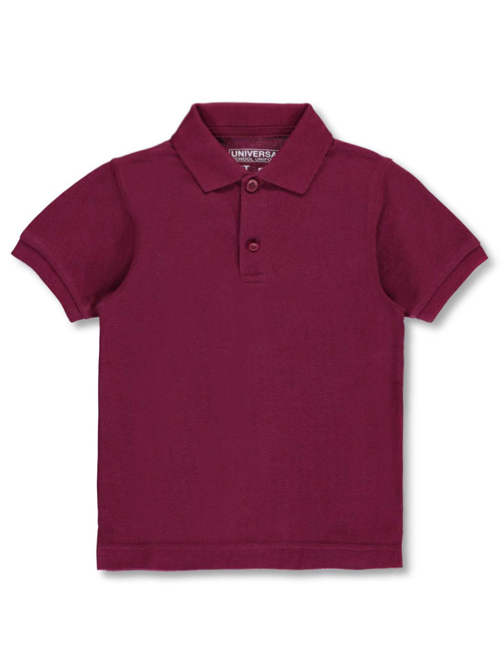 Image of Universal Unisex SS Pique Polo Adult Sizes S  XXL  burgundy m