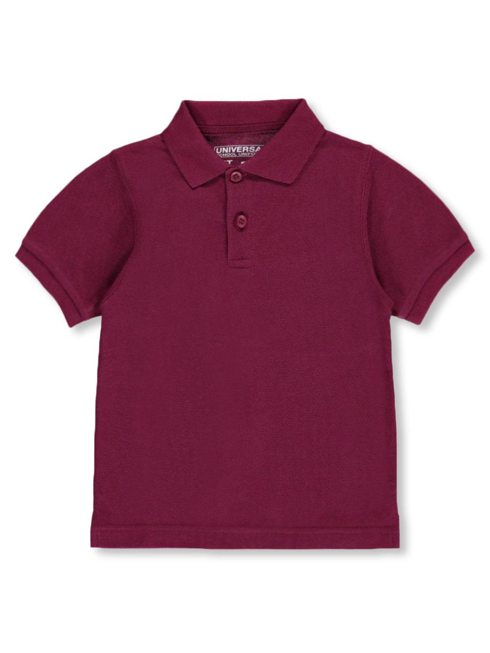 Universal School Uniforms Unisex Boys Girls Short Sleeve Pique Polo Shirt w/Stain Release (2T-20) by Univ- Sku:Staniu838BUR2T; ...