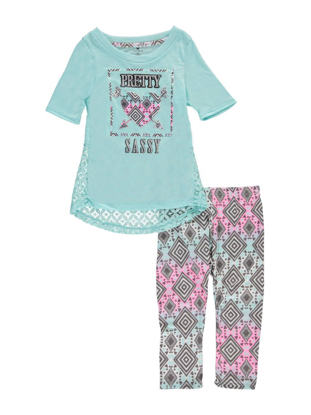 Image of One Step Up Little Girls Pretty Sassy 2Piece Outfit Sizes 4  6X