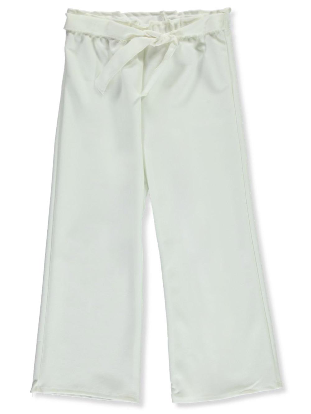 Miss Majesty Girls Front Tie Palazzo Dress Pants
