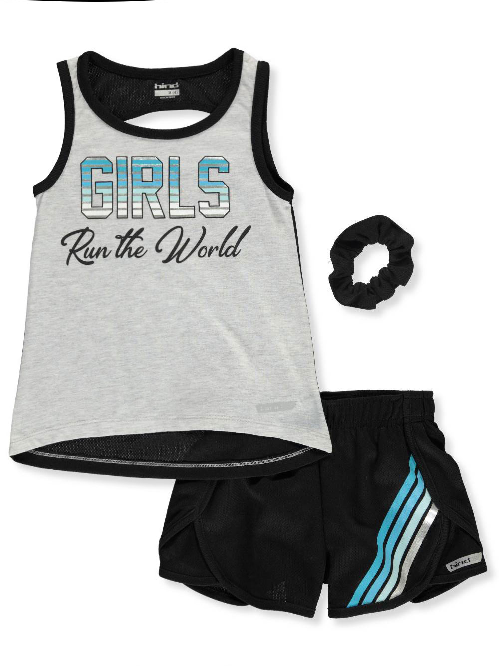 836f7c466 Hind Girls' 2-Piece Shorts Set Outfit with Scrunchie