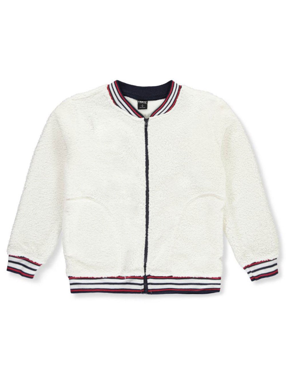 d033fa704 Boys' Sherpa Flight Jacket by Panyc in black, maroon, navy and white