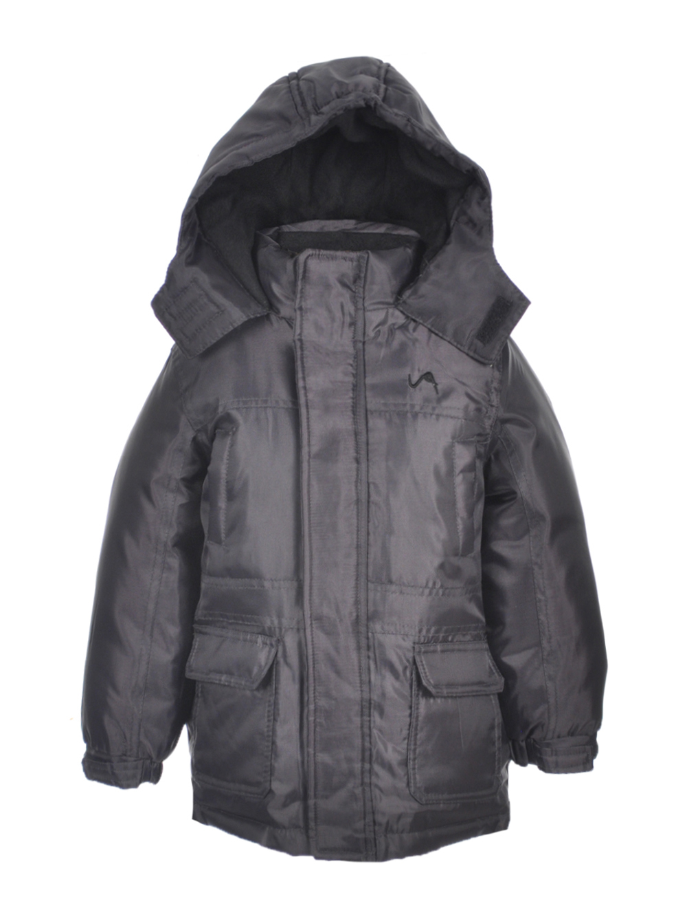 Image of Vertical 9 Little Boys Toddler Winter Stone Insulated Jacket Sizes 2T  4T  charcoal gray 2t