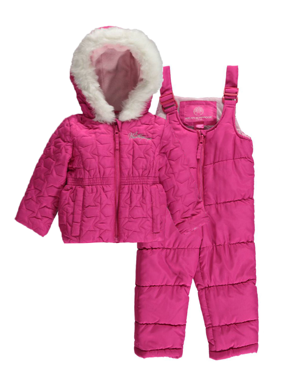 Baby Girls' Coats and Pramsuits. On colder days, your little one will need a cosy cover up. Our baby girls coats come in a range of styles. Whether she's in a jazzy rain coat, a chic blazer, or a smart quilted jacket, she'll stand out from the crowd.