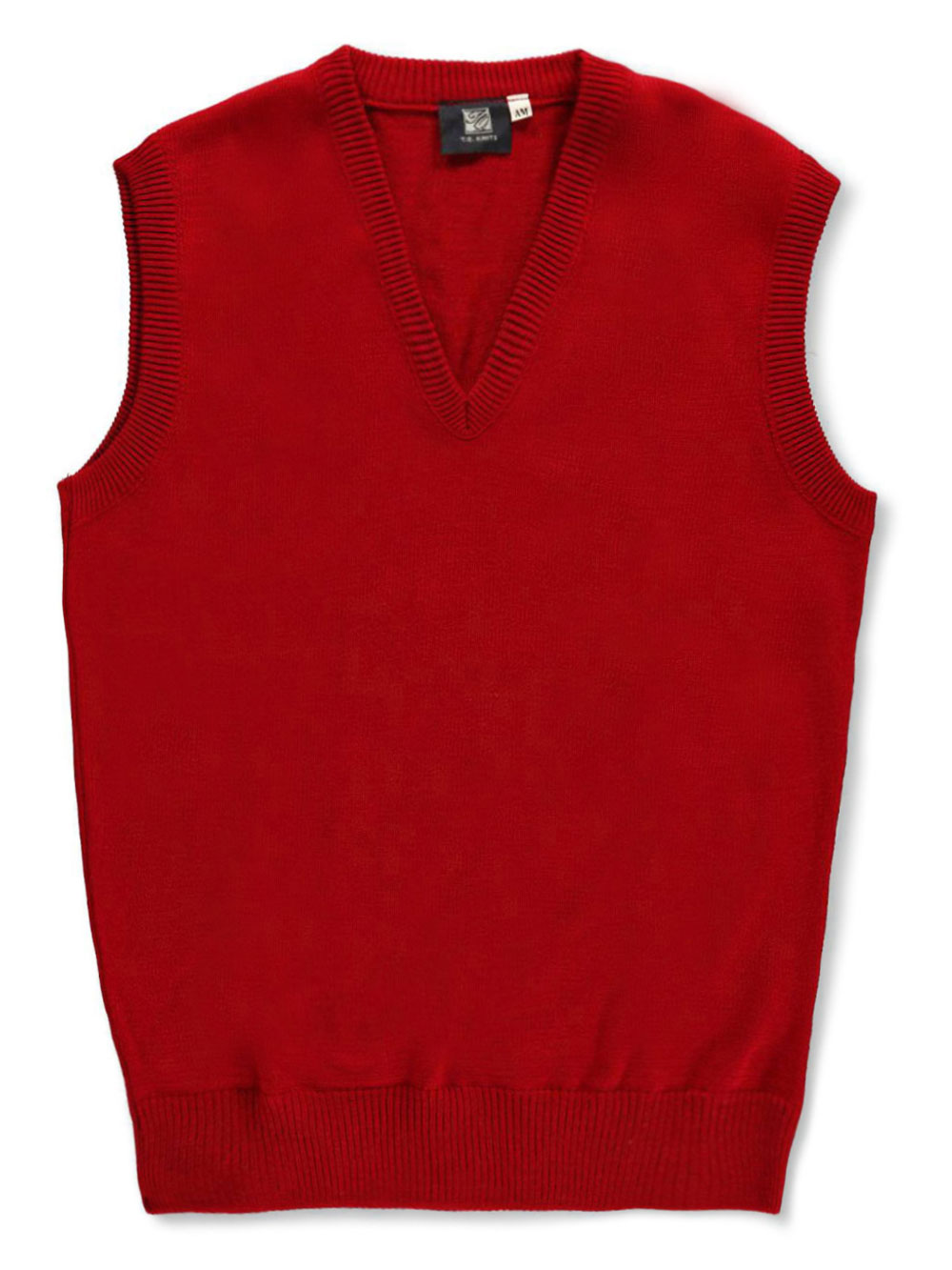 Image of T.Q. Knits Unisex Sweater Vest Adult Sizes S  XXL  red l