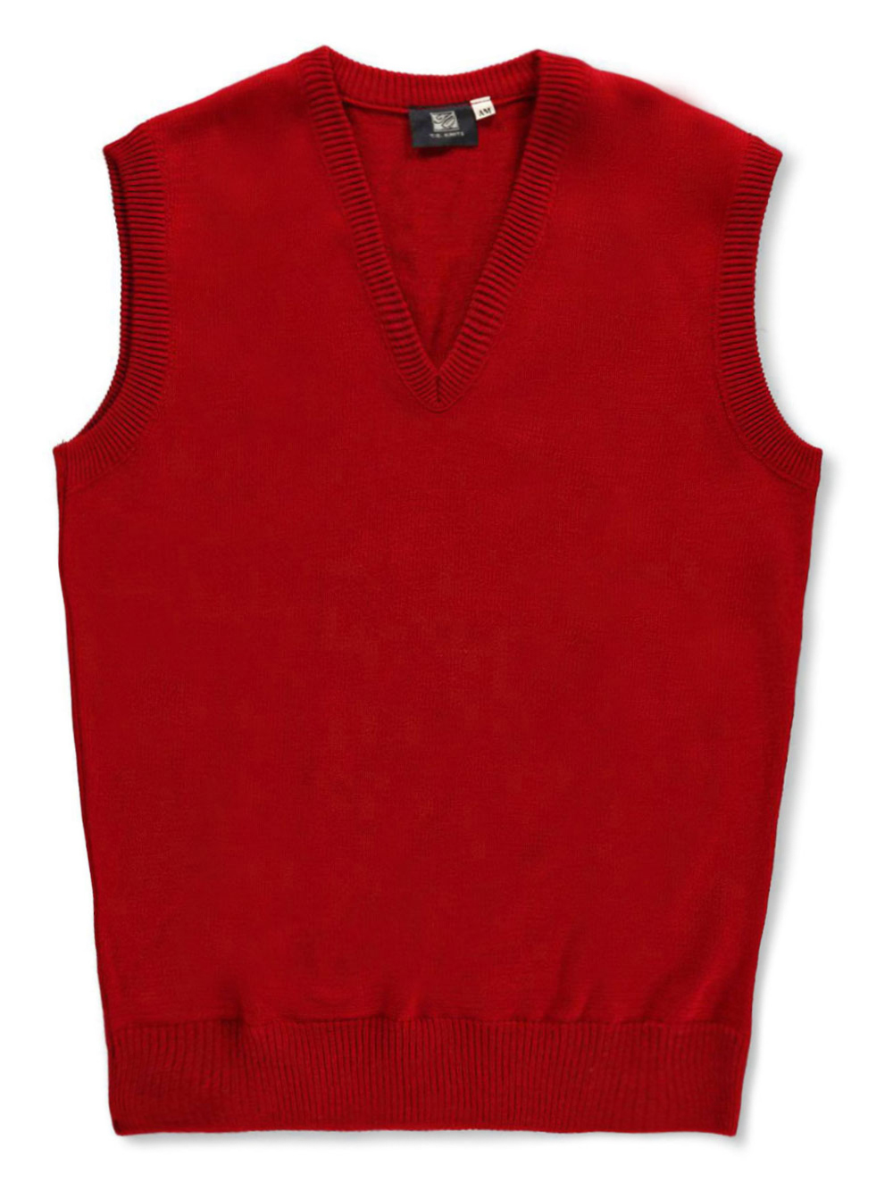 Image of T.Q. Knits Unisex Sweater Vest Adult Sizes S  XXL  red s