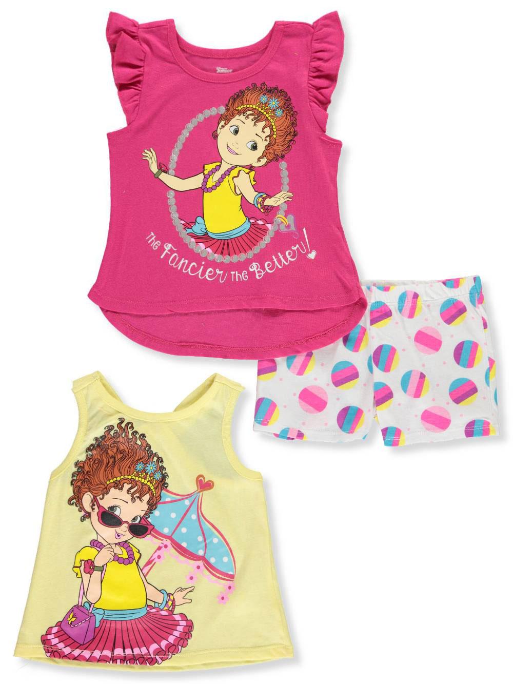 b04c1b627b Disney Fancy Nancy Girls' 3-Piece Shorts Set Outfit