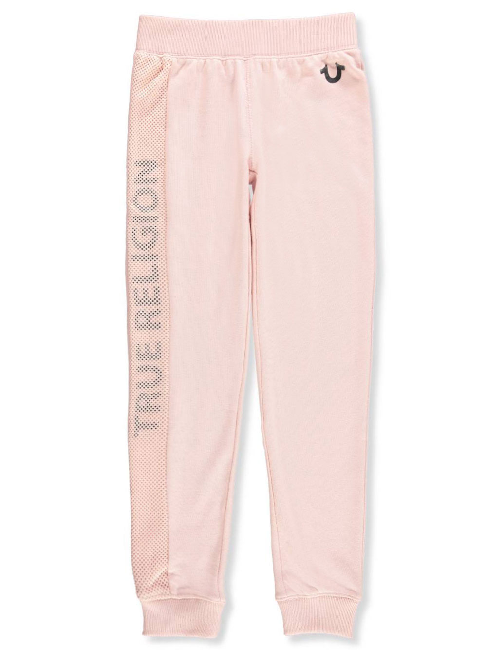 1206879e6 Girls  Joggers by True Religion in black and dusty pink from ...