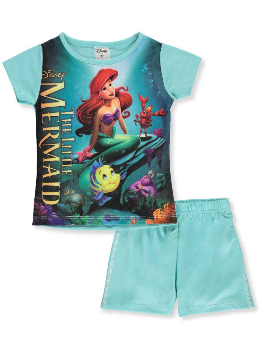 702d2951b6044 Disney The Little Mermaid Girls' 2-Piece Shorts Set Outfit