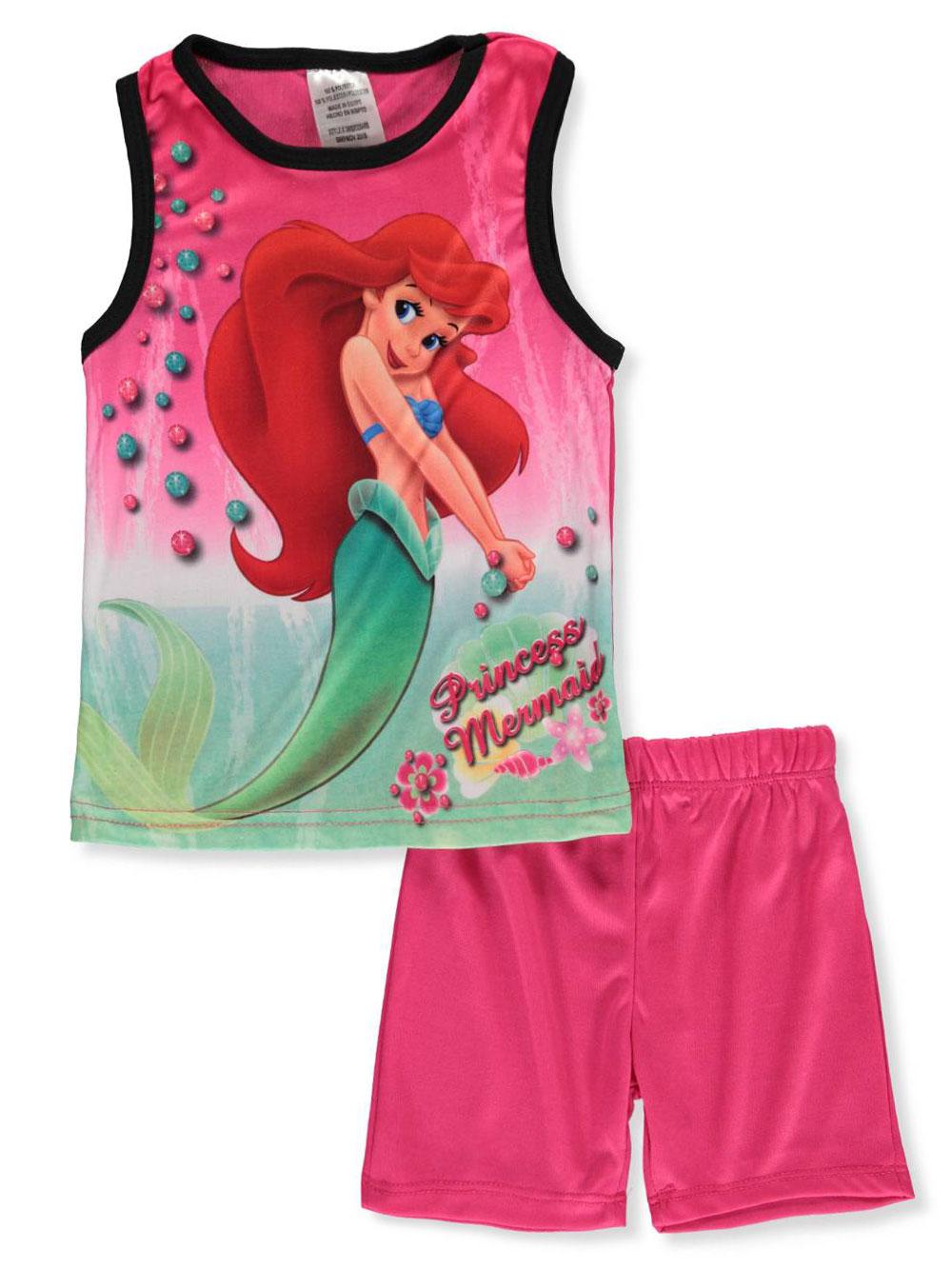 b828587fbcf83 Disney The Little Mermaid Girls' 2-Piece Shorts Set Outfit