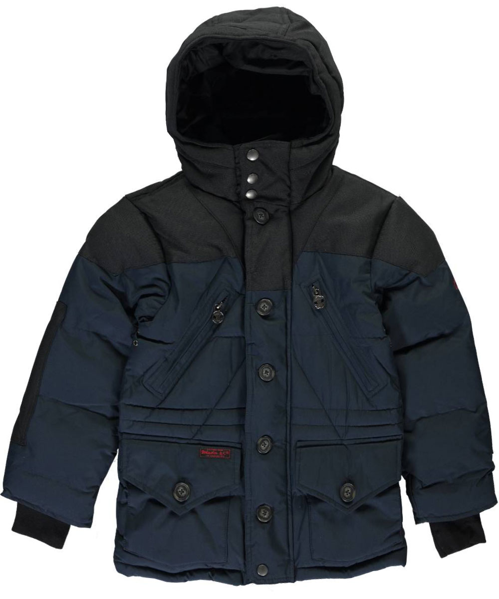 Image of J. Whistler Big Boys Russ Insulated Jacket Sizes 8  20  navy 14  16