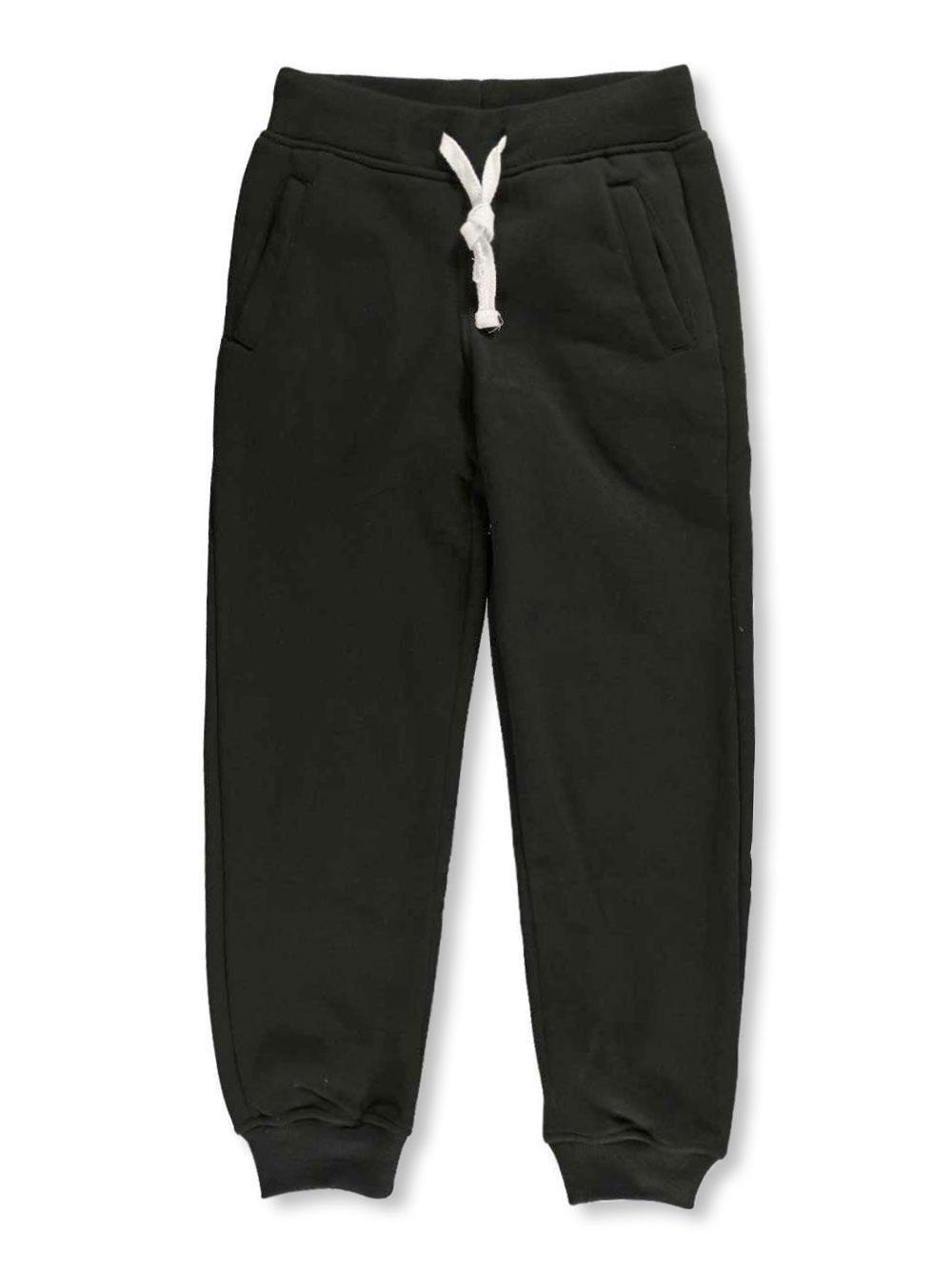 Image of SP Active Big Boys Jogger Sweatpants Sizes 8  20  black 18  20