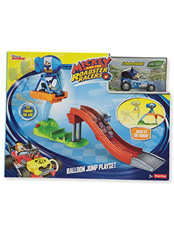 Price Disney MIckey Mouse Mickey and the Roadster Racers Balloon Jump Playset by Fisher