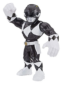 Heroes Mega Mighties Power Rangers Black Ranger Action Figure by Playskool in Black