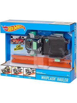 Mattel Hot Wheels Whiplash Hauler Truck and Car Play Set by Hot Wheels in Black