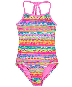 "YMI Big Girls' ""Brightwave"" 1-Piece Bathing Suit (Sizes 7 – 16) - CookiesKids.com"