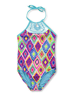 "Vigoss Big Girls' ""Sunburst"" 1-Piece Bathing Suit (Sizes 7 – 16) - CookiesKids.com"