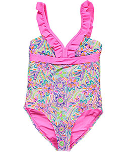 "YMI Big Girls' ""On Deck"" 1-Piece Bathing Suit (Sizes 7 – 16) - CookiesKids.com"