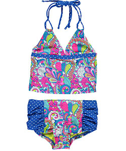 "YMI Big Girls' ""Swim-a-delic"" 2-Piece Tankini (Sizes 7 – 16) - CookiesKids.com"