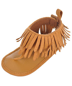 "Rising Star Baby Girls' ""Fun Fringe"" Sandal Booties - CookiesKids.com"