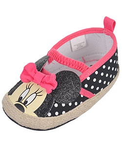"Minnie Mouse Baby Girls' ""Glittery Contrast Espadrille"" Booties - CookiesKids.com"