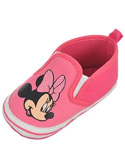 "Minnie Mouse Baby Girls' ""Minnie Slide"" Slip-On Sneaker Booties - CookiesKids.com"