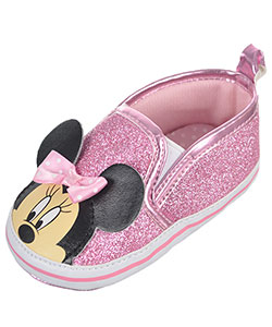 "Minnie Mouse Baby Girls' ""Casual Glitter"" Sneaker Booties - CookiesKids.com"