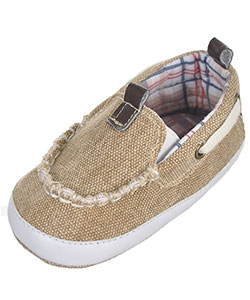 "Rising Star Baby Boys' ""Frayed Canvas"" Slip-On Booties - CookiesKids.com"