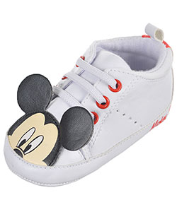"Mickey Mouse Baby Boys' ""Capped Characters"" Hi-Top Sneaker Booties - CookiesKids.com"