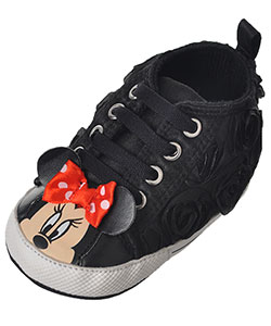 "Minnie Mouse Baby Girls' ""Rose Petals"" Hi-Top Sneaker Booties - CookiesKids.com"