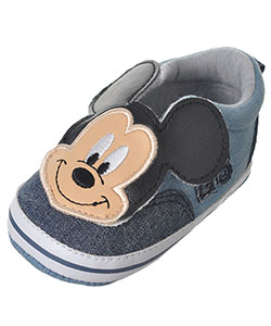 "Mickey Mouse Baby Boys' ""Chambray 28"" Sneaker Booties - CookiesKids.com"