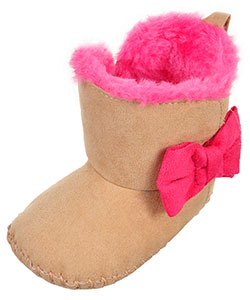Rising Star Baby Girls' Plush Booties - CookiesKids.com