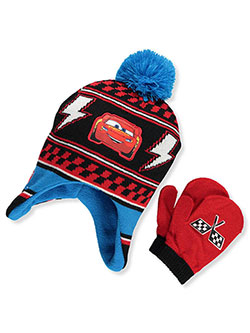 Disney Cars 3 Boys Beanie /& Mittens Set