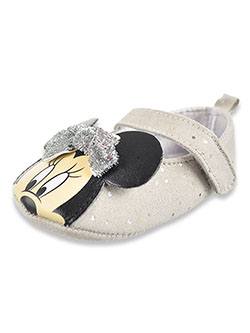 Minnie Mouse Glitter Bow Mary Janes by Disney in Gray/silver