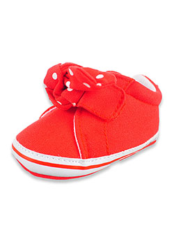 Minnie Mouse Polka Dot Bow Slip-On Sneakers by Disney in Red