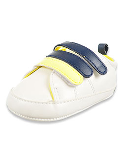 Baby Boys' Neon Accent Sneakers by Rising Star in White