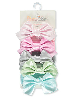 5-Pack Satin Bow Headwraps by Rising Star in Multi