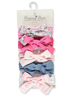 5-Pack Patterned Bow Headwraps by Rising Star in Multi