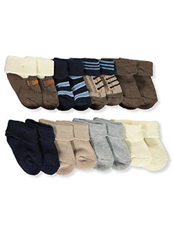 8-Pack Folded Cuff Bootie Socks by Rising Star in Multi