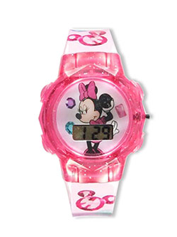 Minnie Mouse Flashing LCD Watch by Disney in Pink