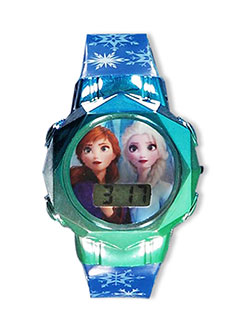Frozen II Flashing LCD Watch by Disney in Blue/green