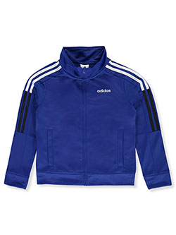 Boys' Stripe Logo Tricot Track Jacket by Adidas in Royal