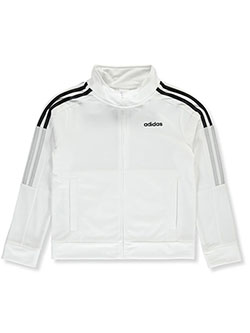 Boys' Stripe Logo Tricot Track Jacket by Adidas in White