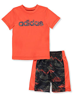 Camo Splash 2-Piece Shorts Set Outfit by Adidas in Multi