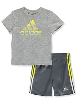 Mesh Dot 2-Piece Shorts Set Outfit by Adidas in Multi