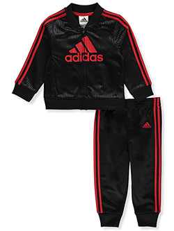 Logo Diamond Tricot 2-Piece Track Sweatsuit Pant Set by Adidas in Multi