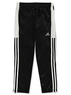 Boys' Ankle Zip Tricot Track Pants by Adidas in White/black