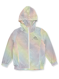 Girls' Iridescent Ombre Windbreaker Jacket by Adidas in Rainbow, Sizes 7-16