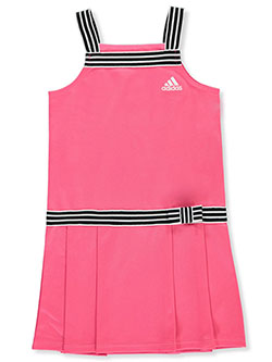 Girls' Pique Sleeveless Athletic Dress by Adidas in Pink, Sizes 4-6X