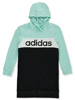 Girls' Colorblock Hoodie Dress by Adidas in Mint